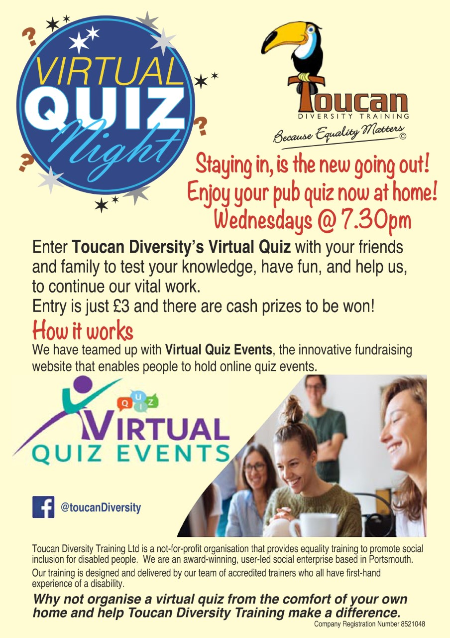 Fundraising poster for quiz events