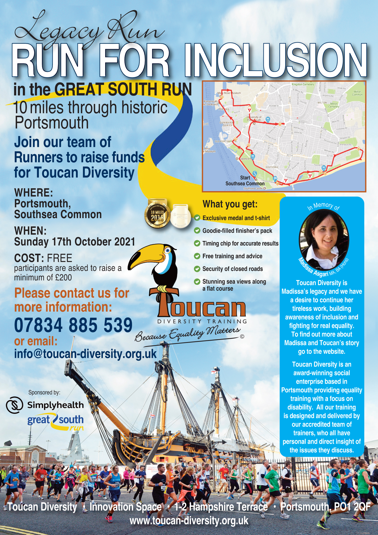 Poster for the Great South Run.